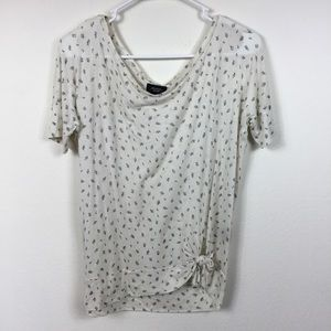 ANTHROPOLOGIE DELETTA FLORAL KNOTTED TOP